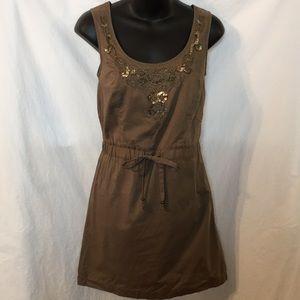 LOFT Cotton Embellished Tunic Dress 0 Petite